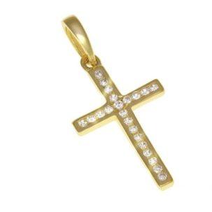 Kultainen risti kivillä